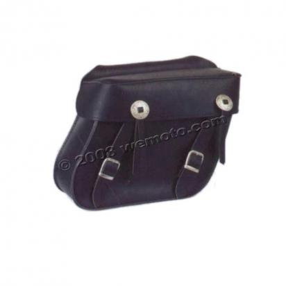 Saddle Bags - Pair Black Leather - Milwaukee II  (33x28x13cm)