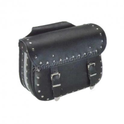 Saddle Bags - Pair Black Leather - Terminator (37x31x16cm)
