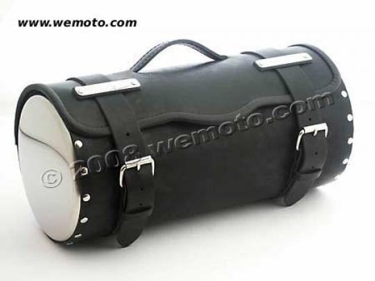 Picture of Tool Roll Leather - with chrome cover - Length 45cms  Diameter 21cms