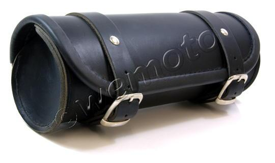 Picture of Tool Roll Leather - Oval - Upholstered rim Length 28cms Diameter 11.5 by 10 cms