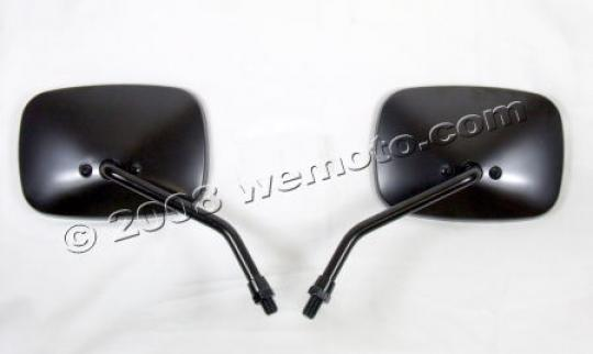 Mirror 10mm - Pair - Black Square - Aprilia / Scarabeo / Habana / Yamaha