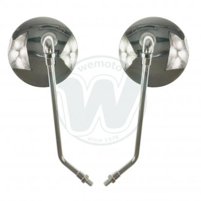 Picture of Mirror 10mm - Pair - Chrome Round - Left & Right Side - Universal