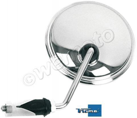 Mirror Bar End - Chrome Oval Classic Style - Left Side