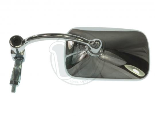 Mirror Bar End - Chrome Rectangle - Triumph Thruxton, Ducati Sport Classic 1000 - Left or Right Side