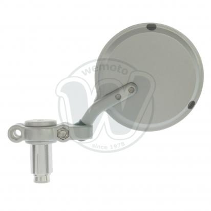Picture of Mirror Bar End - Silver Round - Left Side