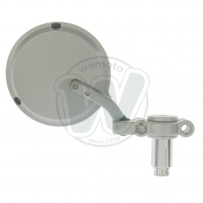 Picture of Mirror Bar End - Silver Round - Right Side