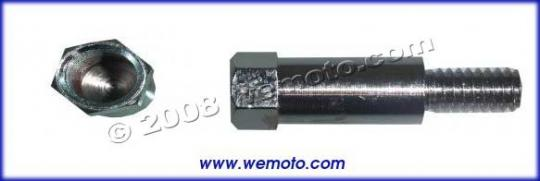Picture of Adaptor Chrome 10mm Left Hand Internal Thread to 8mm Right hand External Thread
