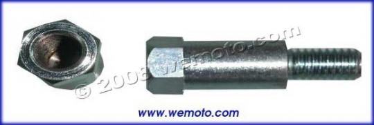 Picture of Adaptor Chrome 8mm Internal Thread to 10mm Left Hand External Thread