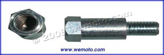 Picture of Adaptor Chrome 8mm Left Hand Internal Thread to 10mm Left Hand External