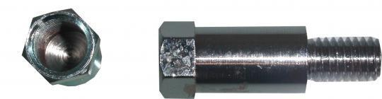 Picture of Adaptor Chrome 10mm Left Hand Internal Thread to 8mm Left Hand External Thread