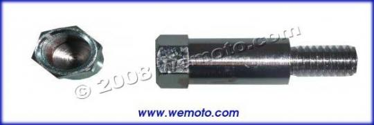 Picture of Adaptor Chrome 10mm Internal Thread to 8mm External Thread