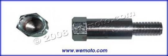 Picture of Adaptor Chrome 10mm Left Hand Internal Thread to 10mm Right hand External Thread