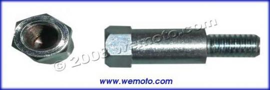 Picture of Adaptor Chrome 8mm Internal Thread to 10mm External Thread