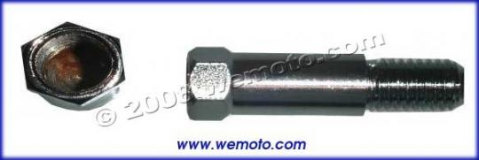 Picture of Adaptor Chrome 10mm Internal Thread to 10mm Left Hand External Thread