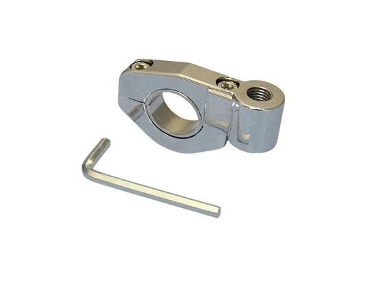 Picture of Handlebar Clamp for 10mm Mirror  22/25mm Bars Chrome  1 PC