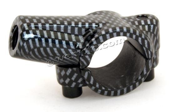 Picture of Handlebar Clamp for 10mm Mirror Carbon R/H thread 7/8 Bars