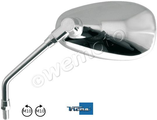 Picture of Mirror 10mm - Chrome Teardrop - Left or Right Side - Left and Right Hand Thread