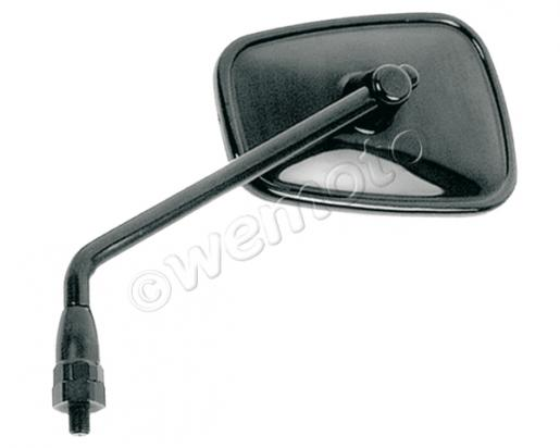 Picture of Mirror 10mm - Black Rectangle - Left Side - Right Hand Thread - Kawasaki