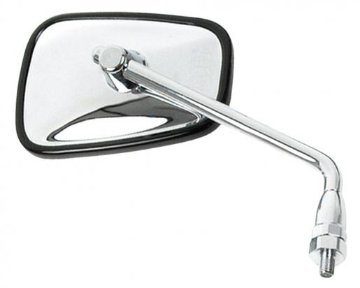 Picture of Mirror 10mm - Chrome Rectangle - Right Side - Right Hand Thread - As Kawasaki - Extra Long Stem