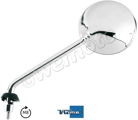 Picture of Mirror Piaggio Vespa Left GTS 250, GTV 250 Chrome Round