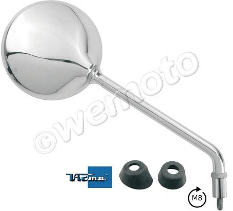 Picture of Mirror 8mm - Round Chrome - Right Side - Right Hand Thread