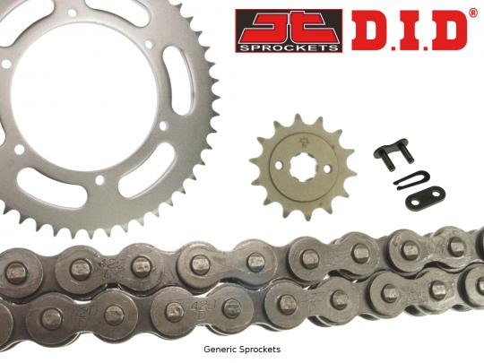 Picture of Honda XR 80 R J/K/L/M/N/P/R/S 88-95 DID Standard Chain and JT Sprocket Kit