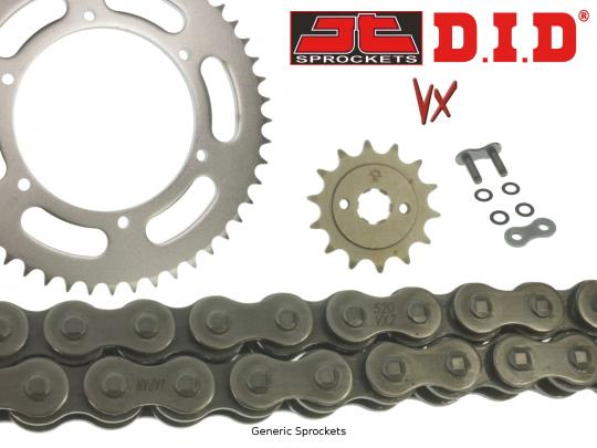 DID VX Heavy Duty X-Ring Chain and JT Sprocket Kit