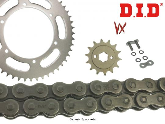 Picture of DID VX Heavy Duty X-Ring Chain and Pattern Sprocket Kit