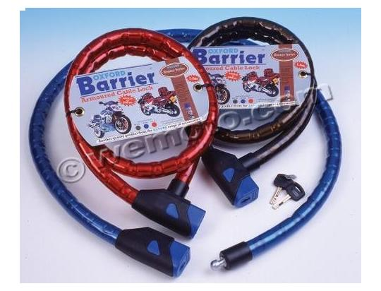 Picture of Oxford lock - Barrier Armoured Cable Lock Smoke  1.4m 1 unit