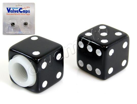 Picture of Valve Caps -Oxford Lucky Dice  Black - Pair
