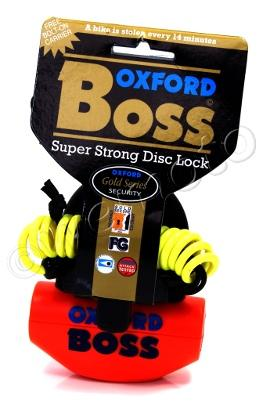 Picture of Oxford Lock - Boss Super Strong Disc Lock Orange