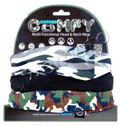 Oxford Comfy Camo 3 Pack Multi Functional Head & Neck Wear