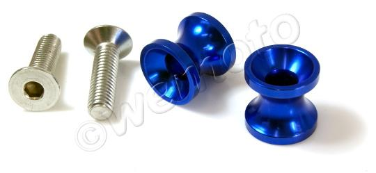 Paddock Stand Bobbins 8x1.25mm Thread - Blue