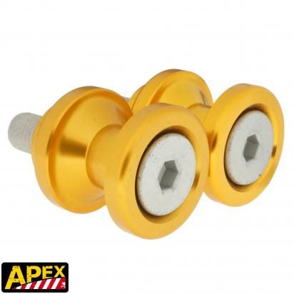 Picture of Motorcycle Swingarm Paddock Stand Spools / Bobbins M10 x 1.25 - Gold - Apex