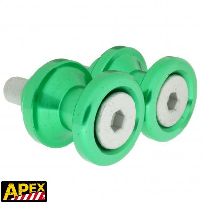 Picture of Motorcycle Swingarm Paddock Stand Spools / Bobbins M10 x 1.25 - Green - Apex