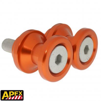 Picture of Motorcycle Swingarm Paddock Stand Spools / Bobbins M10 x 1.25 - Orange - Apex