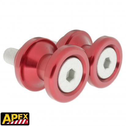 Picture of Motorcycle Swingarm Paddock Stand Spools / Bobbins M10 x 1.25 - Red - Apex