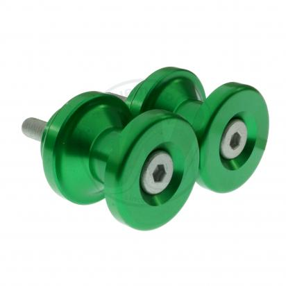Picture of Motorcycle Swingarm Paddock Stand Spools / Bobbins M6 x 1.00 - Green