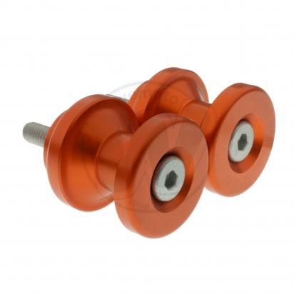 Picture of Motorcycle Swingarm Paddock Stand Spools / Bobbins M6 x 1.00 - Orange