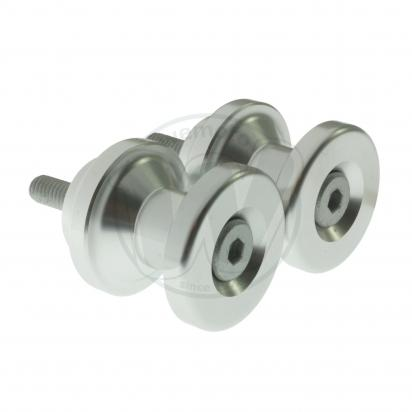 Picture of Motorcycle Swingarm Paddock Stand Spools / Bobbins M6 x 1.00 - Silver