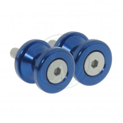 Picture of Motorcycle Swingarm Paddock Stand Spools / Bobbins M8 x 1.25 - Blue
