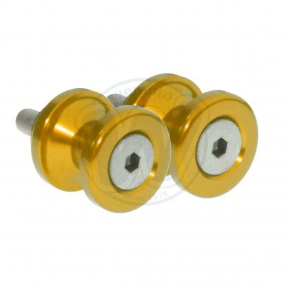 Picture of Motorcycle Swingarm Paddock Stand Spools / Bobbins M8 x 1.25 - Gold
