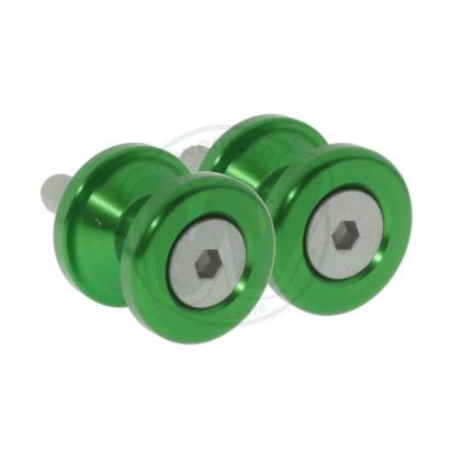 Picture of Motorcycle Swingarm Paddock Stand Spools / Bobbins M8 x 1.25 - Green