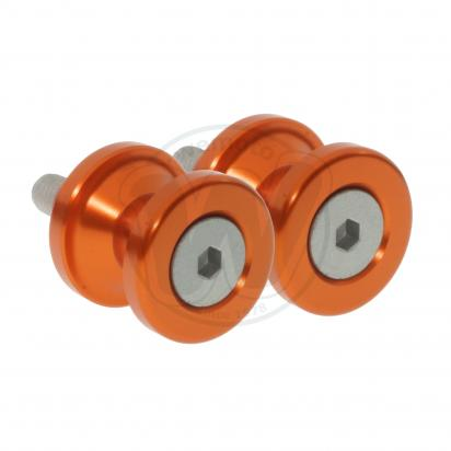 Motorcycle Swingarm Paddock Stand Spools / Bobbins M8 x 1.25 - Orange