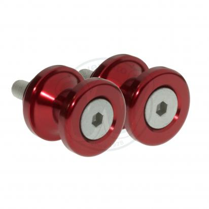 Picture of Motorcycle Swingarm Paddock Stand Spools / Bobbins M8 x 1.25 - Red