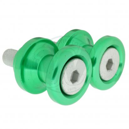 Picture of Motorcycle Swingarm Paddock Stand Spools / Bobbins M10 x 1.25 - Green