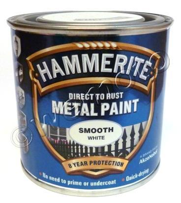 Picture of Hammerite Direct to Rust Metal Paint Smooth White 250ml