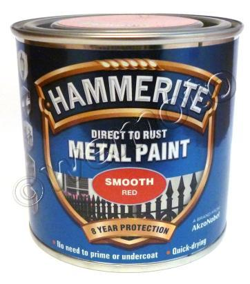 Picture of Hammerite Direct to Rust Metal Paint Smooth Red 250ml