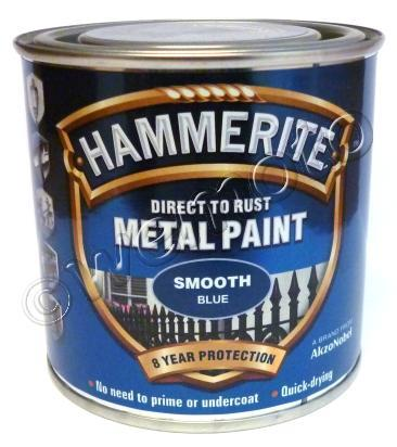 Picture of Hammerite Direct to Rust Metal Paint Smooth Blue 250ml