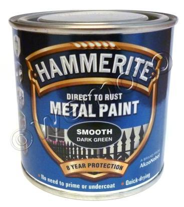 Picture of Hammerite Direct to Rust Metal Paint Smooth Dark Green 250ml